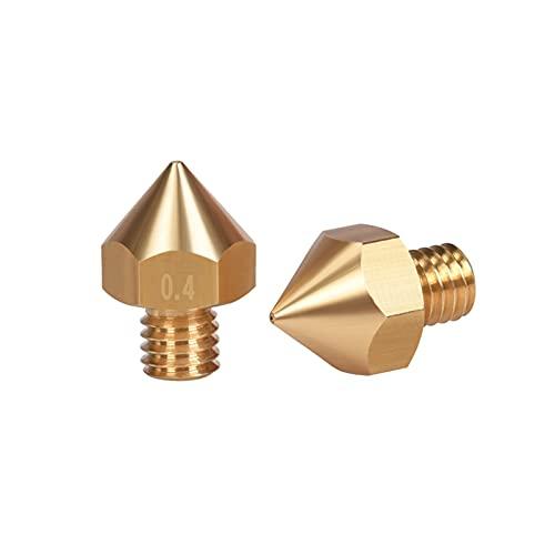 CML BIQU 10/20PCS Original B1UM2 Brass Nozzle 1.75 0.4/0.5/0.6/0.8MM 3D Printer Parts Extruder Print Head Nozzle For 1.75mm Filament (Color : 20pcs, Size : 0.6mm)