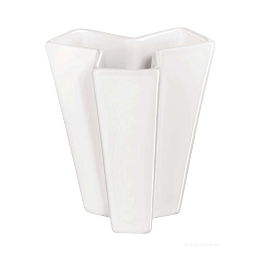 ASA Vase, weiß D. 11,5/7 cm, H. 12 cm