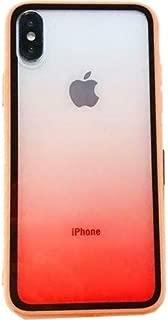 Kaltel Gsm iPhone X Estel Renk Geçişli Soft Silikon + Cam Koruyucu Kılıf - Turuncu