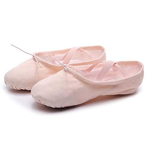 AZLLY Kids Ballet Schoenen Volwassen Professionele Canvas Zachte Zool Gezellige Dans Slippers Split Zool Meisjes Kinder Ballerina Praktijk Schoenen Yoga Schoenen Gymnastiek Schoenen voor Dansen