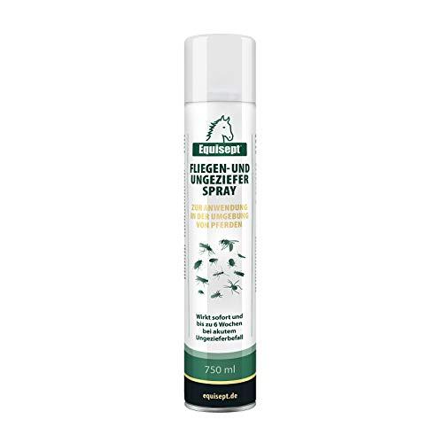 Equisept Fliegenspray & Ungezieferspray für die Pferdeumgebung 750ml - Mit Sofort- & Langzeitwirkung - Insektenspray gegen akutem Ungezieferbefall für Pferde - Bis zu 6 Wochen wirksamer Schutz