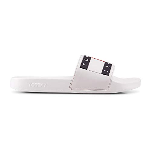Tommy Jeans Flag Pool slipper white