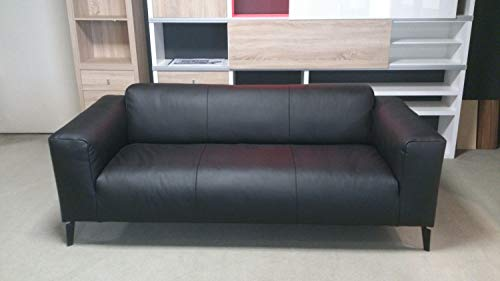 Möbel Akut Sofa Rolf Benz Freistil 186 Sofabank 3 Sitzer Couch Echtleder schwarz 203 cm
