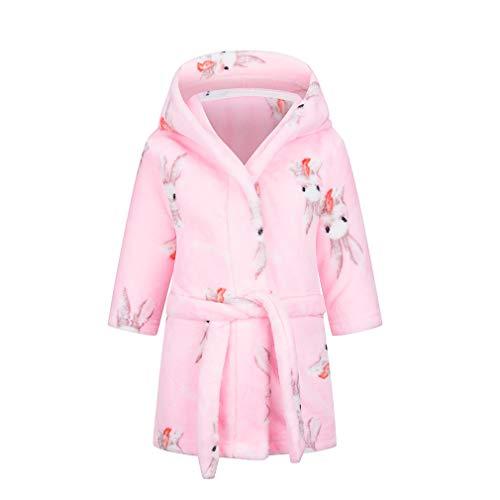 Taigood Kinder Ultra Soft Flanell mit Kapuze Bademäntel für Jungen und Mädchen Lange Ohr Kaninchen