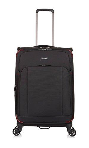 Antler Atmosphere, Durable & Expandable Lightweight Soft Shell Suitcase - Colour: Black, Size: Medium