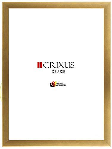 CRIXUS `Deluxe´ Bilderrahmen im Puzzle Format 83,4 x 117,5 cm, Farbe: Alu Gold gebürstet, MDF-Holz...