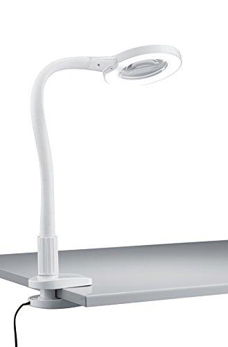 Trio Leuchten LED Klemmleuchte 227280101 Lupo, Kunststoff weiß, 5 Watt LED