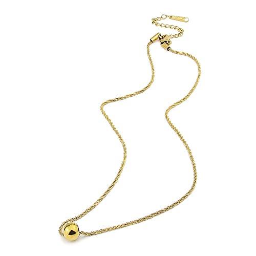 Collar Collar Único Con Forma De Palomitas De Maíz Y Colgante De Cuentas Para Mujer, Joyería, Collar De Amor De Acero Inoxidable