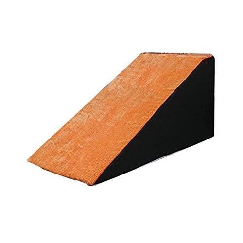 GQQ Leitern, Haustiertreppen Leichte Haustiertreppe Rampe Für Kleine, Rutschfeste Stufen Leiter Für Bettsofas, Orange Abnehmbarer Waschbarer Bezug, 30-50 cm Höhe,Orange,S-33 × 70 × 30 cm