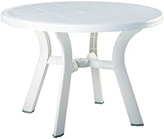 Best white round resin patio table Reviews