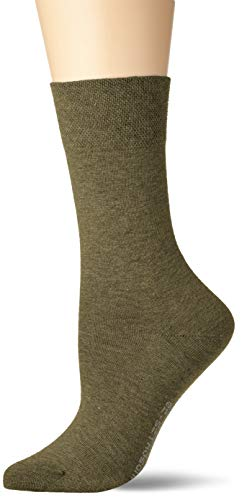 Hudson Relax Cotton Calcetines, Verde (Militar Mel.0605), 35-38 para Mujer