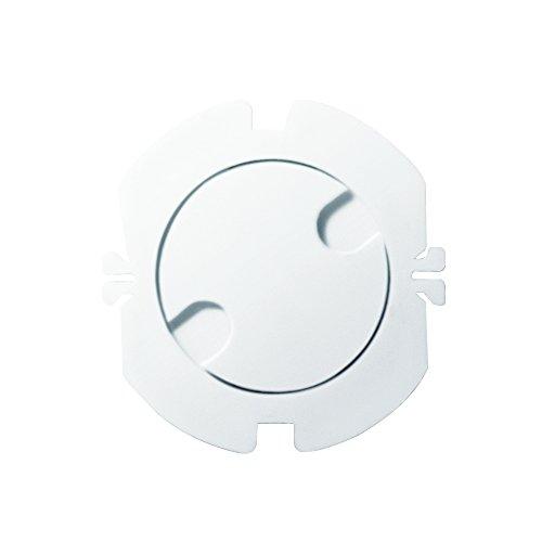 LogiLink EC3002 stopcontacten kinderbeveiliging met draaibare automatische sluiting, 10-delige set wit