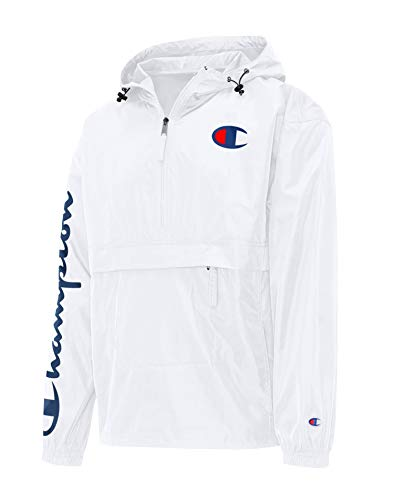 Champion Mens Stadium Packable Jacket, L, White