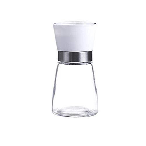 Huishoudelijke Zwarte Peper Molen Keuken Handleiding Glas Peper Poeder zee Zout Slijpen Fles kruiden Fles rasp Kleur: wit