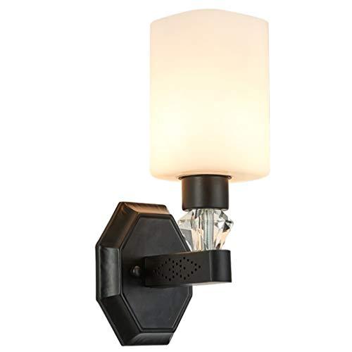 JYDQM Lámpara de Pared Negra Moderna y Simple, lámpara de Pared de Noche de Dormitorio LED Creativa Sala de Estar de TV lámpara de Pared