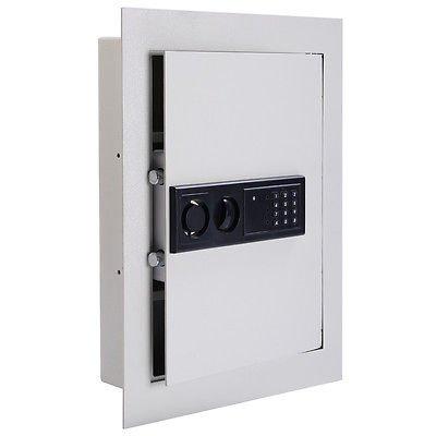 Everything Jingle Bell 0.8CF Digital Flat Recessed Wall Safe Home Security Lock Gun Cash Box Electronic