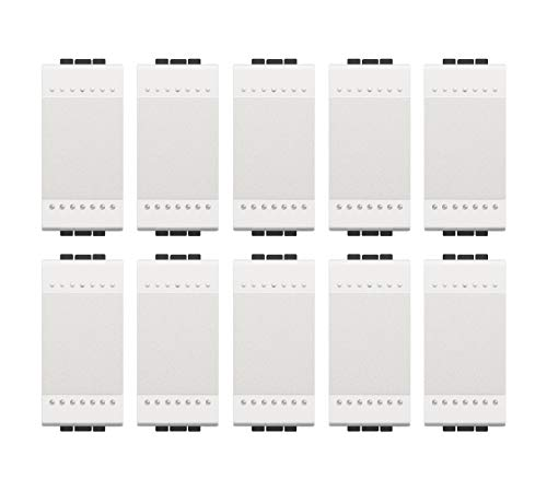 Bticino ASTN4001NKit10pz LL - Interruptor 1P 16 A 1 m blanco