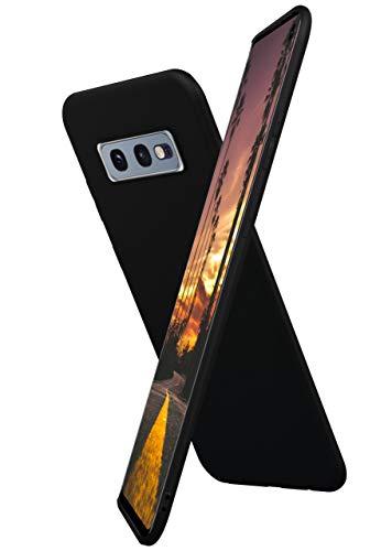 ONEFLOW Slim Hülle Kompatibel mit Samsung Galaxy S10e Handyhülle Stoßfest und Minimalistisch, Ultra Dünne Bumper Design Handy Schutzhülle Matt, Leichte Hülle aus Silikon - Schwarz