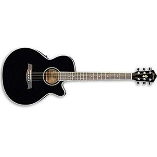 Ibanez AEG8E-BK Acoustic Guitar, Single Cutaway, Black