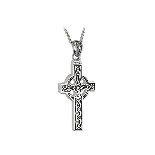 Celtic Cross Necklace Stainless Steel Irish Made Jewelry