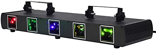 DJ Bühnenlichter, 5 Linsen RGBY Discolicht Partylicht Sound-aktivierte Bühneneffekt Beleuchtung LED Party Lichter DMX512 Controller für Tanzver Geburtstag Weihnachten Hochzeit Inventar in Deutschland