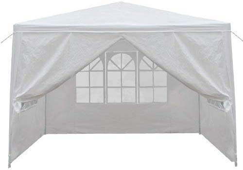 Smartxchoices 10' x 10' Outdoor White Waterproof Gazebo Canopy Tent with 4 Removable Sidewalls and Windows Heavy Duty Tent for Party Wedding Events Beach BBQ