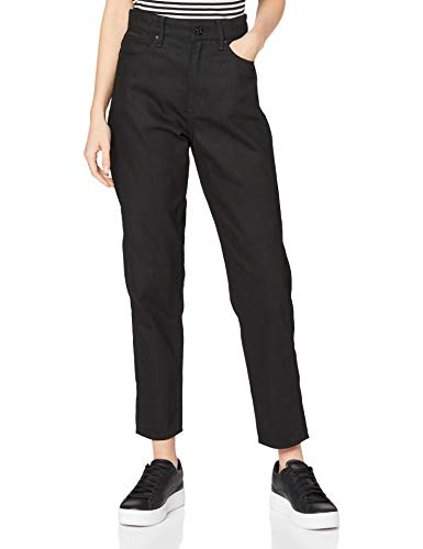 G-STAR RAW Womens Janeh Ultra High Wasit Mom Ankle Straight Jeans, Pitch Black C526-A810, 29W / 30L