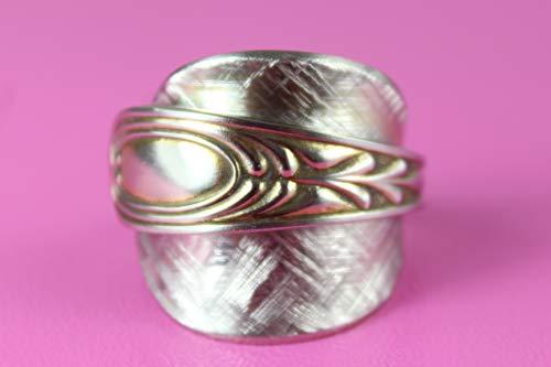 Besteckschmuck, Besteck Schmuck Ring, ca. 63 (20,1) Ring aus Besteck