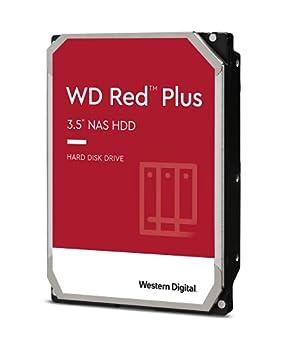 Western Digital 6TB WD Red Plus NAS Internal Hard Drive HDD - 5400 RPM SATA 6 Gb/s CMR 64 MB Cache 3.5  - WD60EFRX