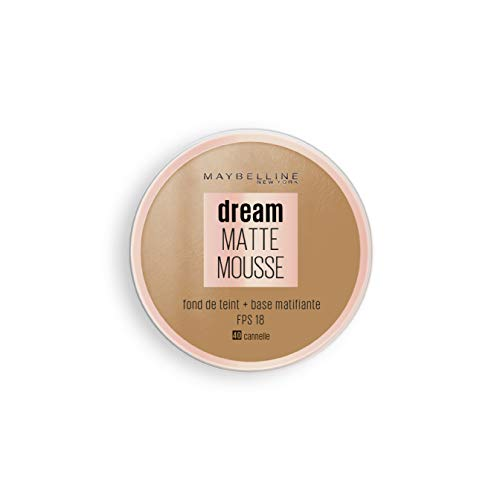 Maybelline New York - Fond de Teint Mousse Matifiant - FPS18 - Dream Matte Mousse - Cannelle (40)