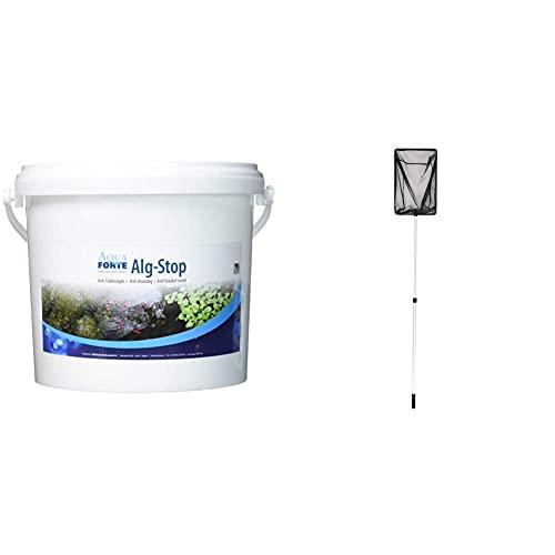Aquaforte Alg-Stop Anti-Fadenalgenvernichter, 5 kg, Pulver & OASE 36297 Algenkescher groß | Kescher | Teichzubehör | Zubehör | Teichkescher | Teichreinigung | Algenentfernung