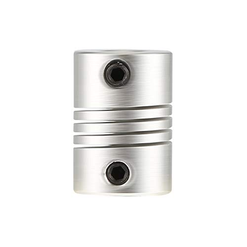 Hot 6x6mm CNC Motor Jaw Shaft Coupler 6mm To 6mm Flexible Coupling OD 16x23mm Top Sale - Silver