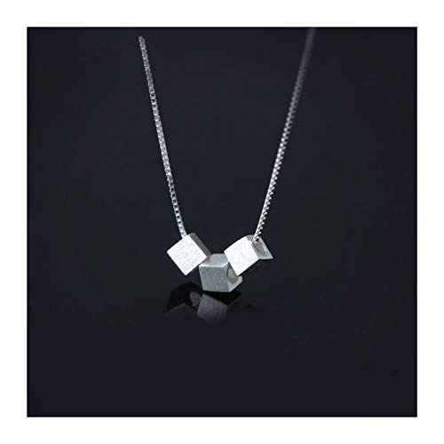 DERFX Jewelry Vintage Long Three Cube Box Necklace For Women Wedding Collares Accessories