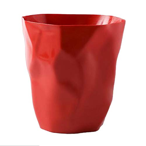 LOVIVER Kreativ Abfalleimer Mülleimer Papierkorb Abfallbehälter Müllbehälter - Rot Groß