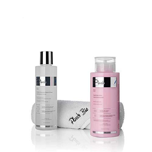 Luxury BIO Cosmetics - Set con 2 productos + toalla regalo - Geranium Bourbon - desmaquillante, limpieza, tonificación, desintoxicación - tipos de piel: grasa, mixta, normal
