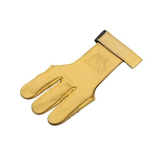 elToro Traditioneller Schießhandschuh Tradition (Gelb) Bogenschießen (L)