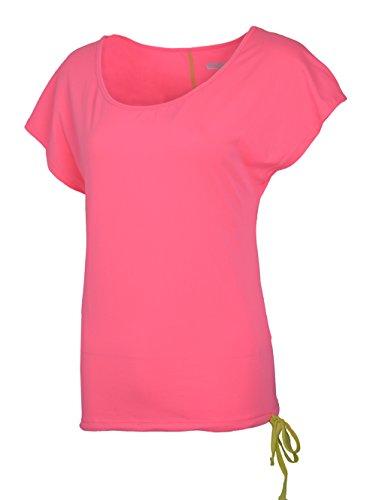H.MILES Damen Kurzarmshirt Short Sleeve T-Shirt Sports Running Fitness Laufshirt Atmungsaktives Funktionsshirt (Rot, XX-Large)