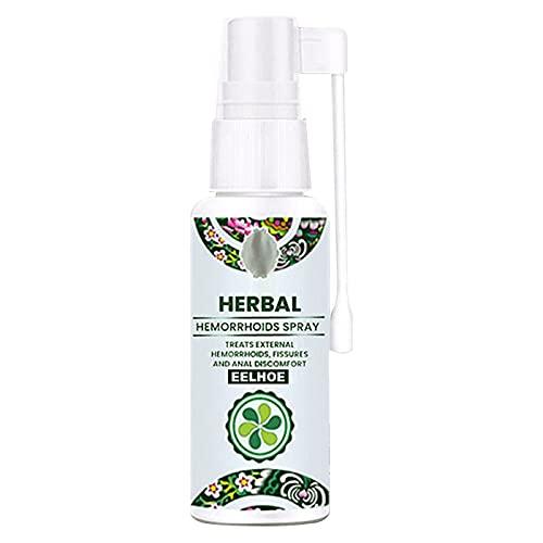 QGANG Spray para hemorroides a Base de Hierbas Naturales, fórmula 100% Natural, Alivia el Dolor, picazón, Ardor, Apoyo inmunológico Natural, para Tratamiento Interno y Externo (1pc)