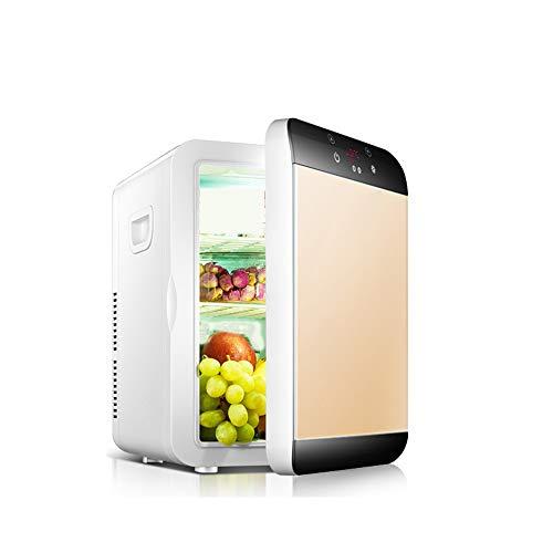 JayQm minibar, koelkast met 20 l capaciteit, draagbare en stille vrieskasten en koelkasten, koelkasten en warmers, kleine koelkast voor kantoor, auto, slaapkamer, reizen