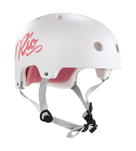 Rio Roller Script Helm, Unisex, für Erwachsene, Unisex-Erwachsene, RIO159_57/59 cm_Blanco, weiß, 57/59 cm