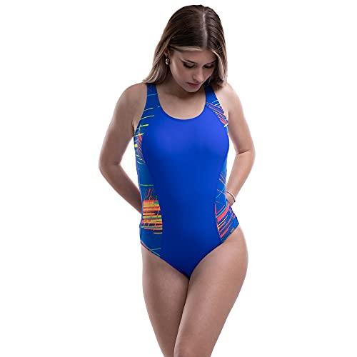 Mermaid Bikini de Mujer Traje De Baño Una Pieza, Bañador Deportivo Mujer con Lisos, Ropa De Baño para Deporte Mujer para natación