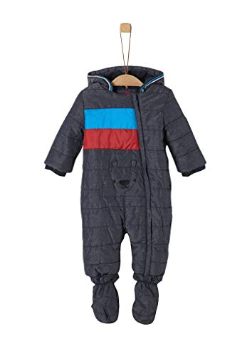 s.Oliver Unisex - Baby Winter-Overall mit Fleecefutter navy 62