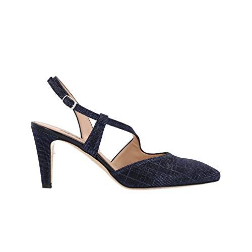 Melluso Scarpe Sandali da Donna Tessuto Blu E1602F-BLU
