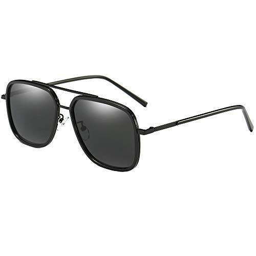 SHEEN KELLY Square zonnebril mannen legering gepolariseerd rechthoekig heren zonnebril 100% UV-bescherming