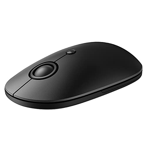 Wireless Mouse for Laptop, 2.4G Slim Computer Mouse with USB Receiver and 5 Adjustable Levels, Silent Cordless Mouse Wireless Mice for Windows Mac PC Notebook (Black)