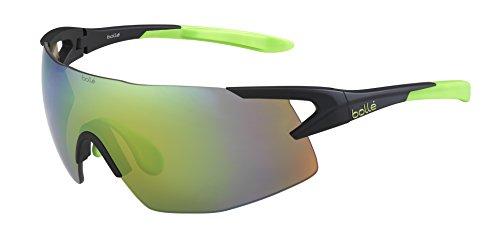 bollé 5th Element - Gafas de Sol Deportivas, Color Negro Mate/Verde