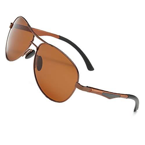 AORON Polarisierte Sonnenbrille Herren Outdoor Sportarten Schutz Brille UV-Schutz Fahrbrille (Braun)