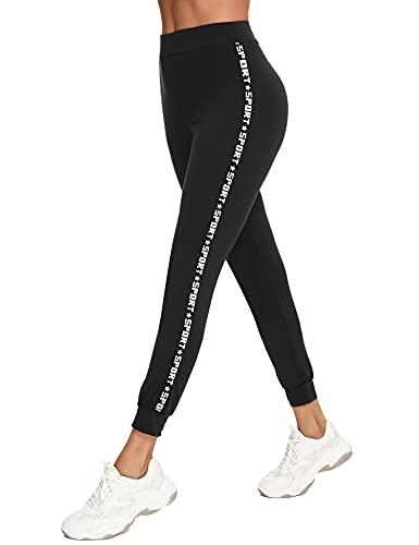 Sykooria Leggins Mujer Push up Deportivos, Leggings para Mujer Pantalones Deportivos con Letras de Cintura Alta Mallas de Deporte Mujer para Yoga Running Training Estiramiento Fitness