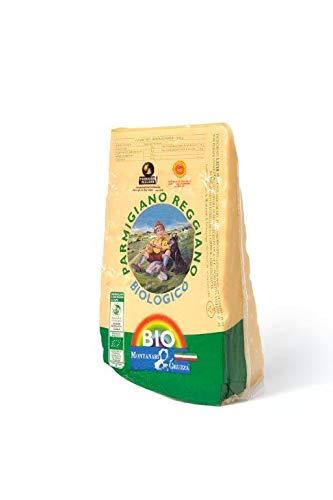 Parmigiano Reggiano DOP Bio Extra 24 Mesi, fatto con latte biologico Punta da 1 Kg Sottovuoto