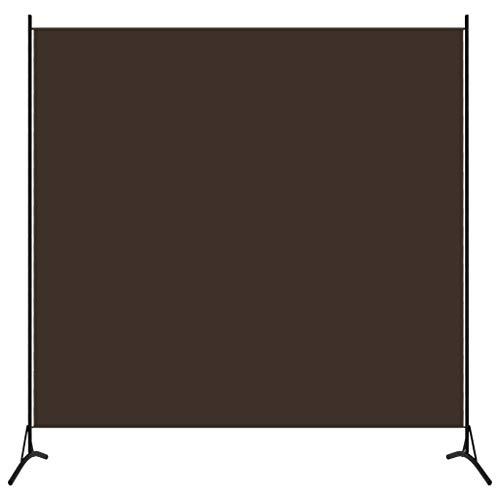 vidaXL Raumteiler Freistehend Trennwand Paravent Umkleide Sichtschutz Spanische Wand Raumtrenner 1-TLG. Braun 175x180cm Eisen Stoff